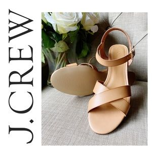 J. Crew Low Block-Heel Sandals